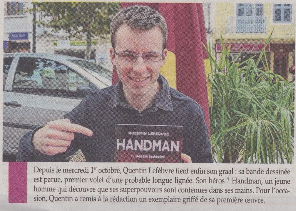 article de journal-l'essor savoyard du 16octobre2014 parle de handman