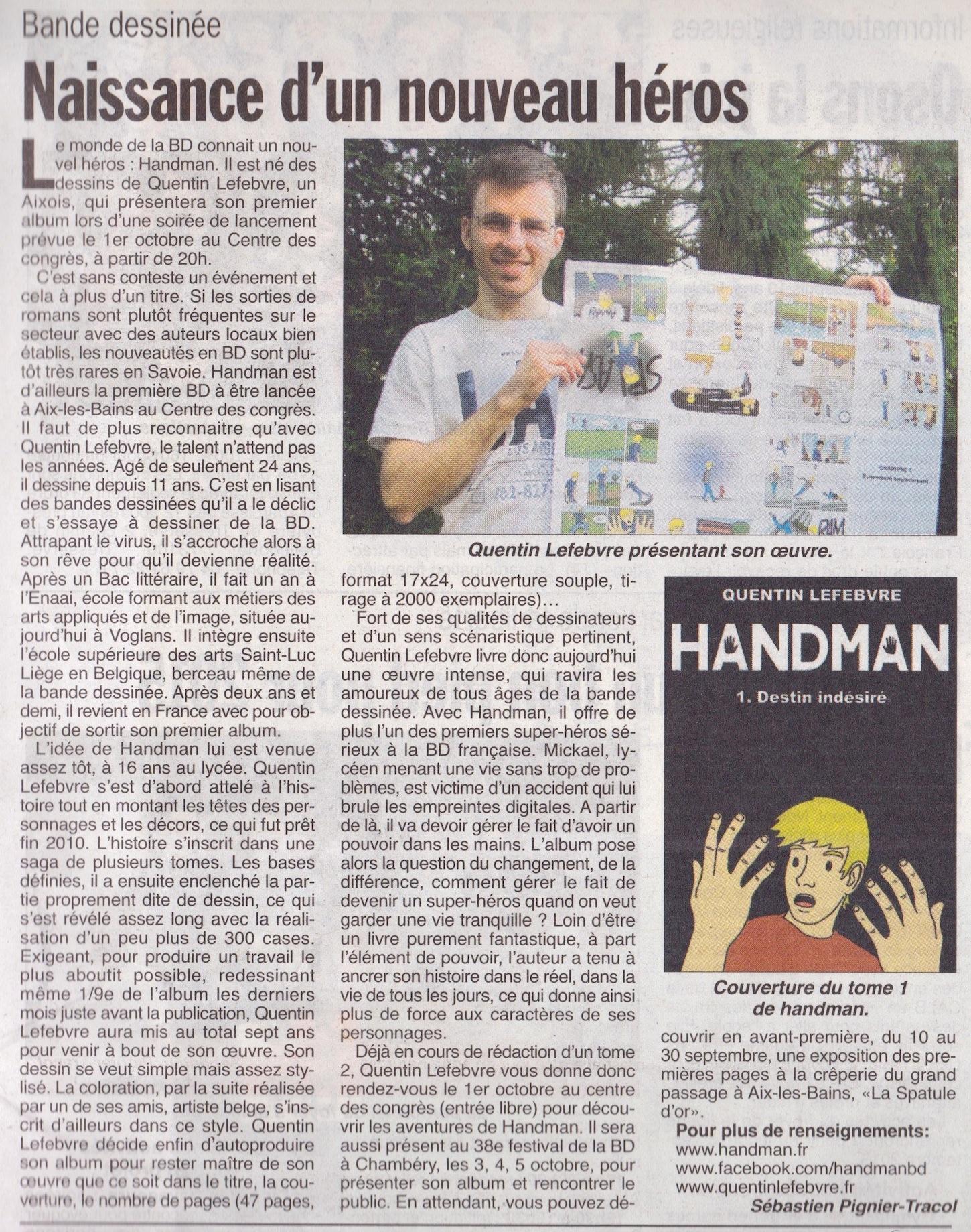 article-de-journal-lhebdo-des-savoie-du-11septembre2014-parle-de-handman