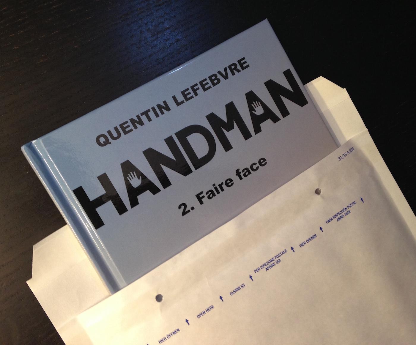 enveloppe envoi bd handman par quentin lefebvre