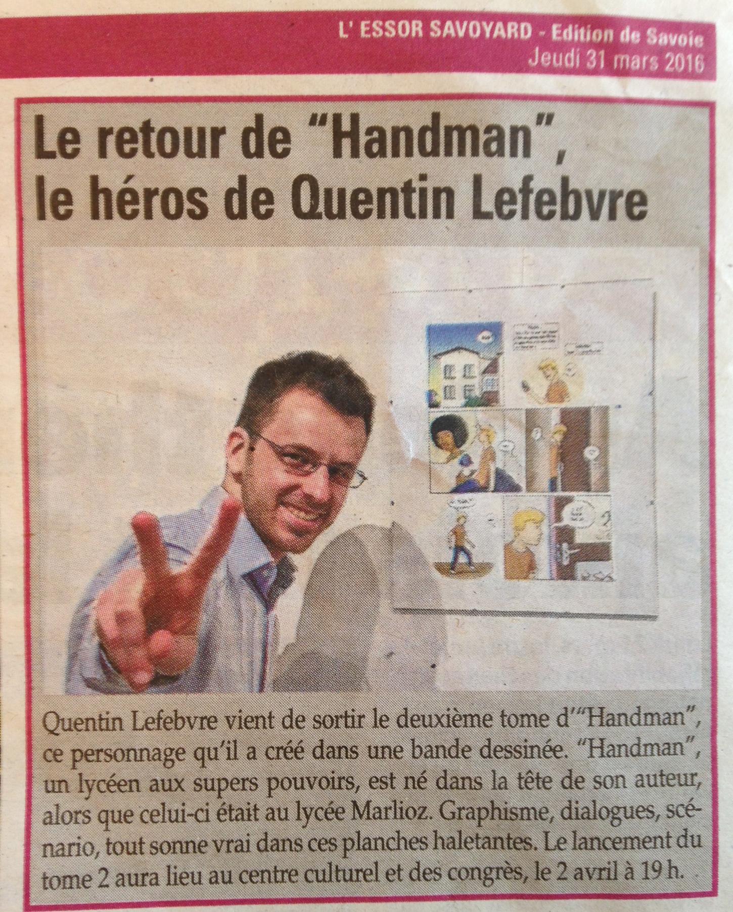 article essor savoyard 31mars2016 handman2
