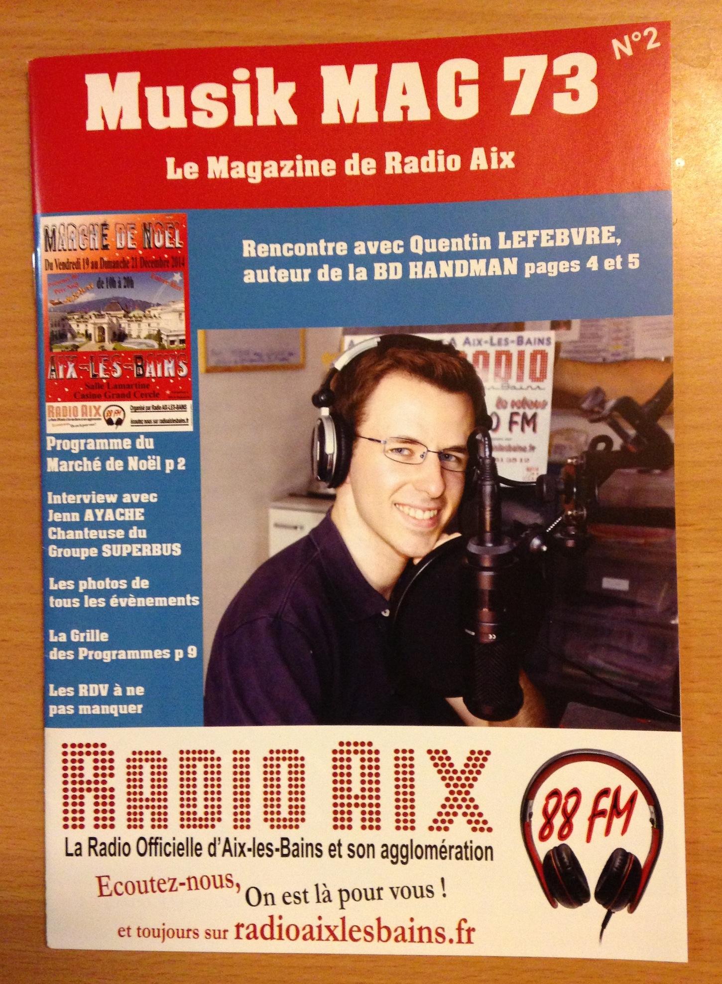 couverture de musik mag 73 - quentin lefebvre et handman